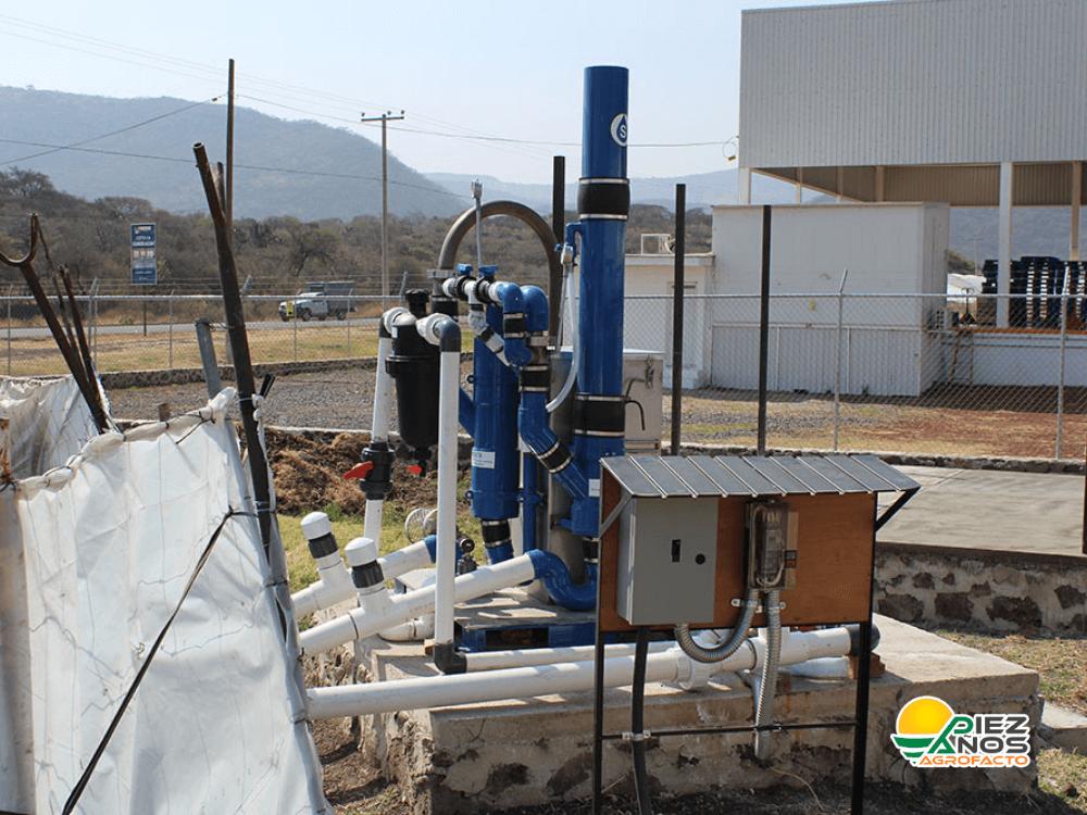 quemador de azufre conectado a reservorio
