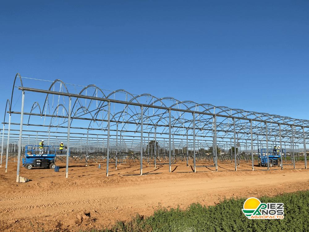 construcción de invernadero