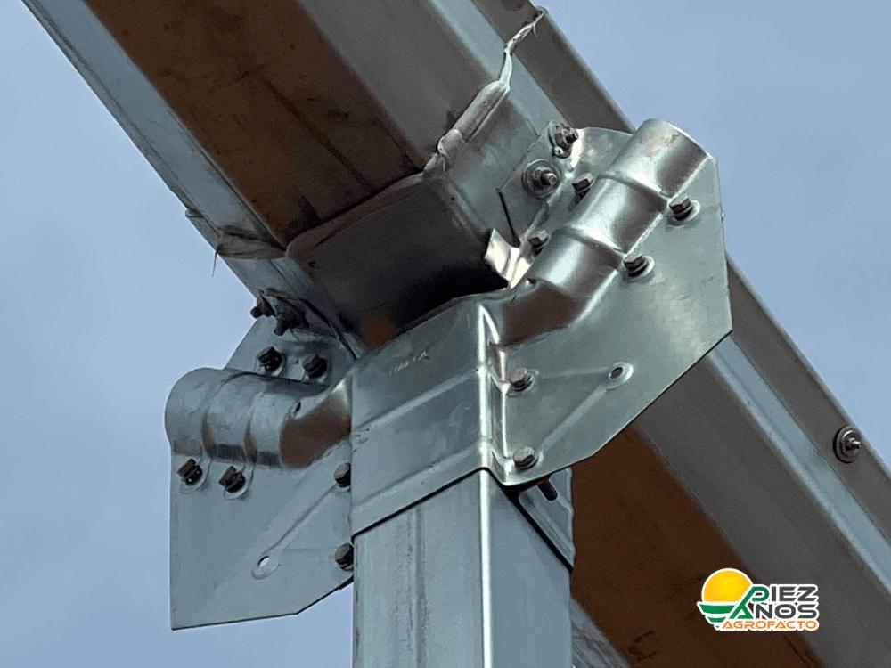 estructura de acero galvanizado para invernadero