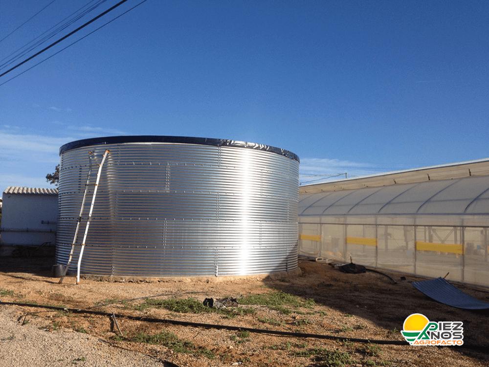 estanque de agua de acero para invernadero